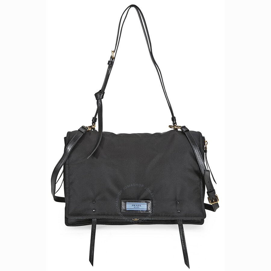 Prada Large Fabric Crossbody Bag - Black - Prada - Handbags - Jomashop e86abecdb3