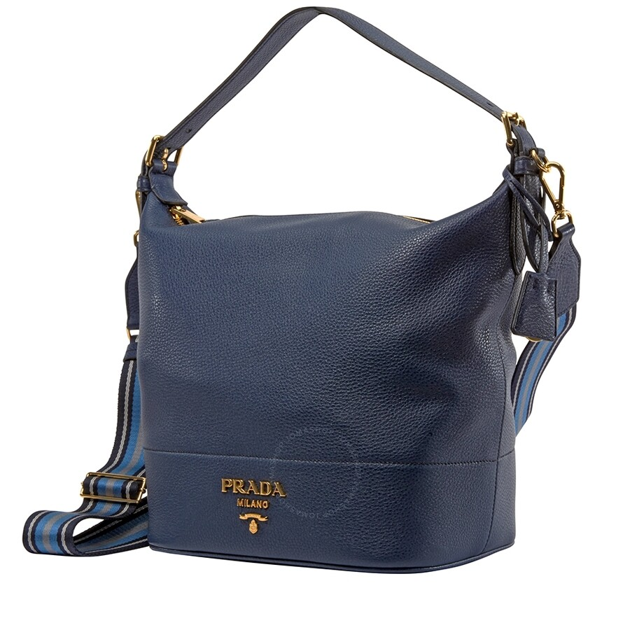abadc183c5 Prada Leather Bucket Bag- Baltico