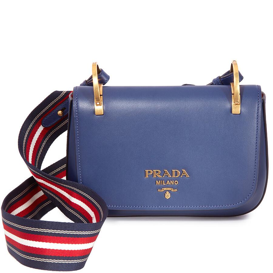 ab8b3956d7b6 Prada Leather Shoulder Bag- Royal Blue Item No. 1BD110 2AIX F0V41-V NOO