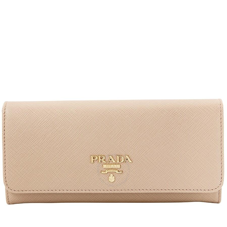 55570a0d8e0ea9 Prada Leather Wallet- Powder Pink - Saffiano - Prada - Handbags ...