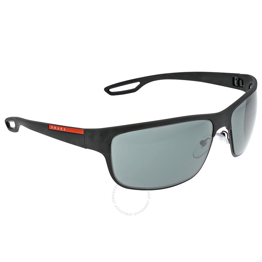 bbeb7e2bb5 ... Prada Lifestyle Black Rubber matte Black Sunglasses PS 50QS-DG01A1-64  ...