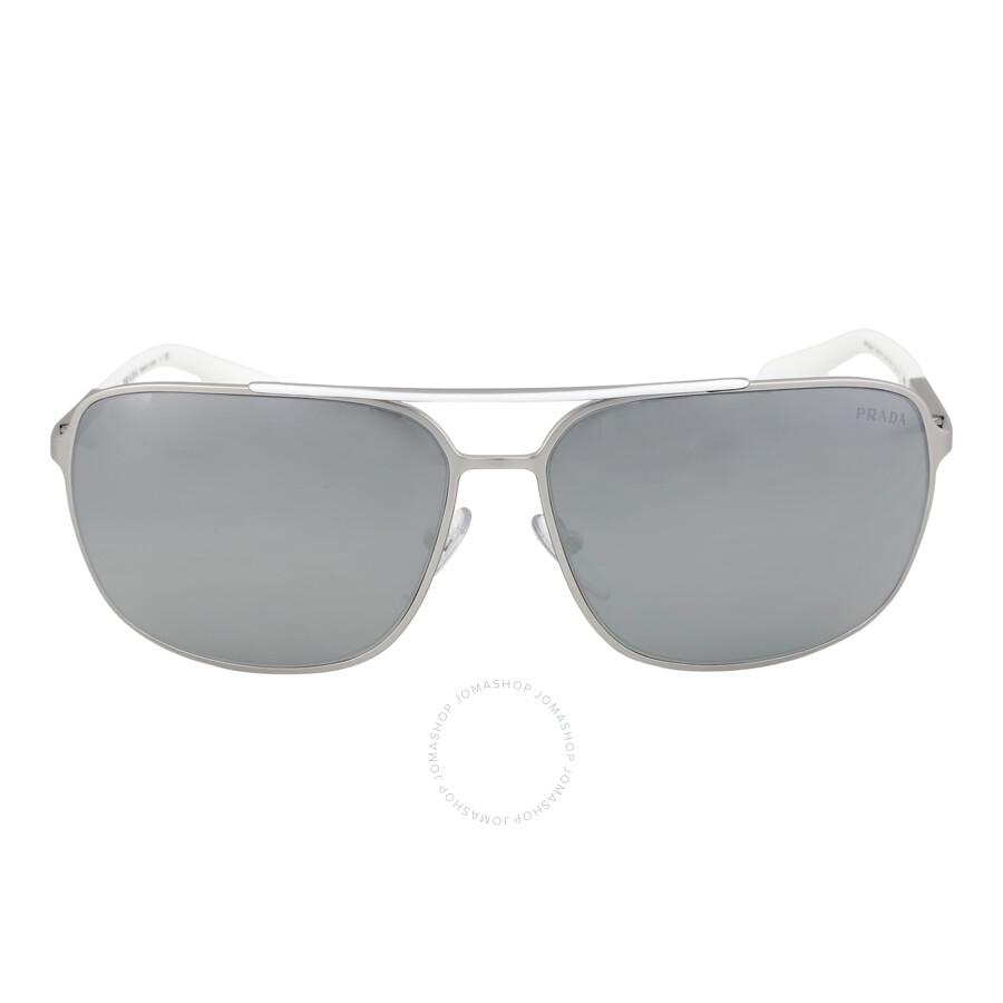 b2dac4f138615 Prada Lifestyle Silver Mirror Sunglasses PS 54OS-1AP7W1-64 - Prada ...