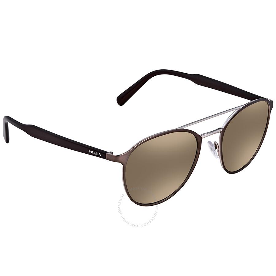 36f7d2736a2b ... greece prada light brown mirror gold gradient round mens sunglasses pr  62ts vix6o0 54 cf6b5 d708d