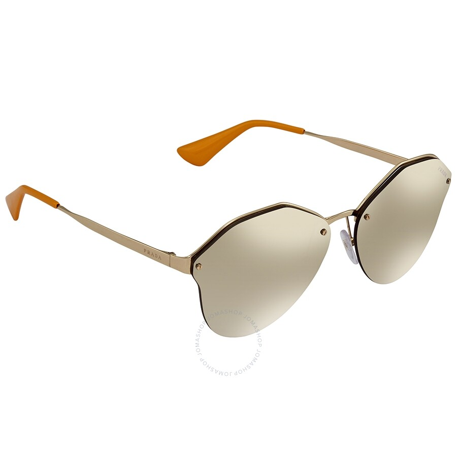 b8b86d52a4800 Prada Light Brown Mirror Gold Ladies Sunglasses PR-64TS-ZVN1C0-66 ...