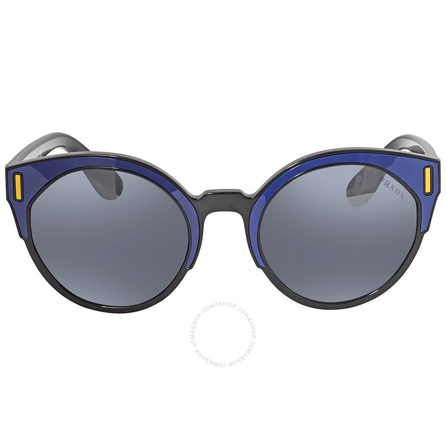 7f9f978d1d2 ... Prada Light Grey-Blue Gradient Round Sunglasses PR 03US SUI3A0 53 ...
