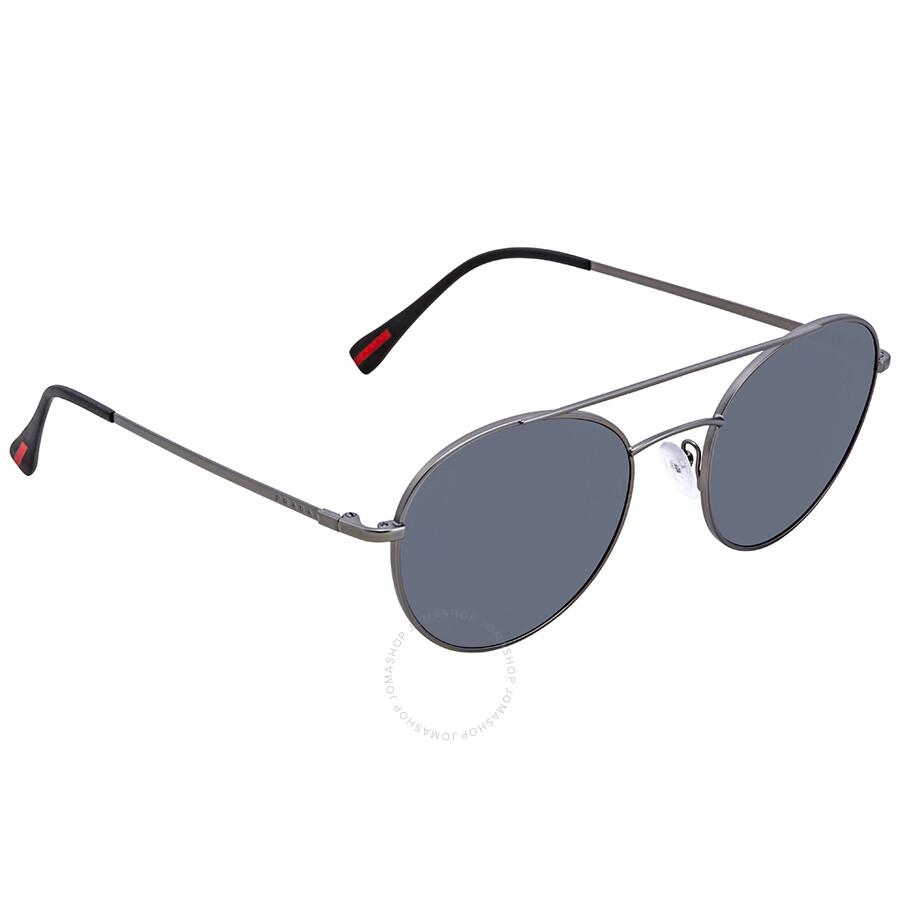 2498aa9e724b ... greece prada light grey mirror black round mens sunglasses ps51ss  7cq5l0 51 33ae3 87a99 ...