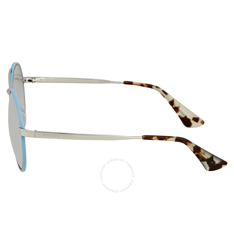 affda7447da9 ... Prada Light Grey Mirror Grad Silver Round Ladies Sunglasses PR 51SS  VHT1A0 54