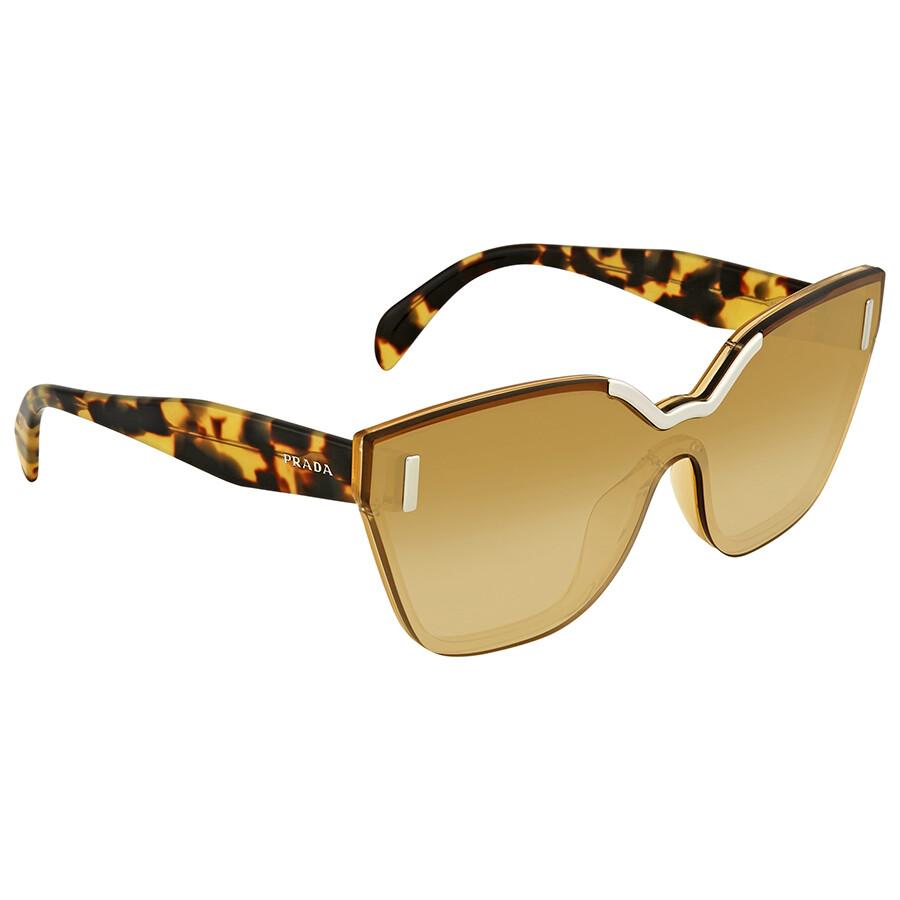 1747f9deb93 Prada Light Yellow Gradient Ochre Cat Eye Ladies Sunglasses PR 16TS VIR1G0  48 ...