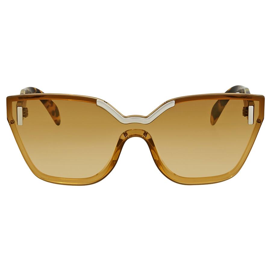 7374dcb7981 ... Prada Light Yellow Gradient Ochre Cat Eye Ladies Sunglasses PR 16TS  VIR1G0 48 ...