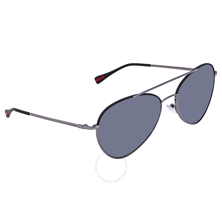 469ccfcd33 Prada Linea Grey Oval Men s Polarized Sunglasses PR PS50SS 290255 60 ...