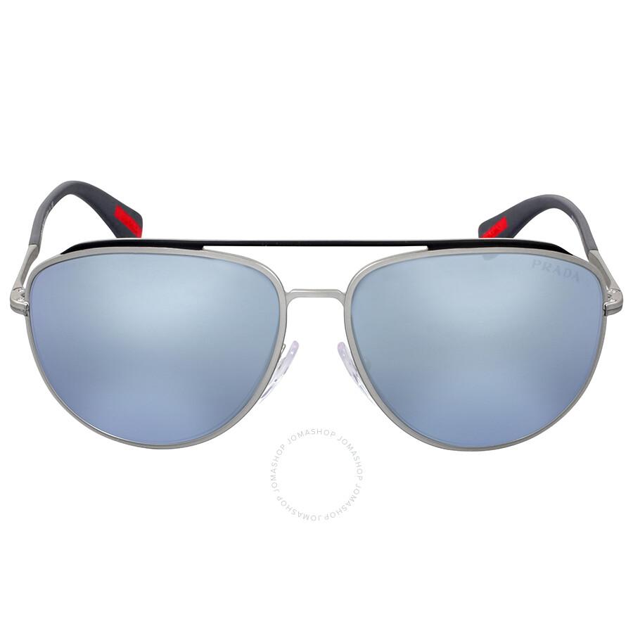 9942489c31e Prada Linea Rossa Aviator Blue Mirror Lens Sunglasses Item No. 0PS  55RSQFP5Q059