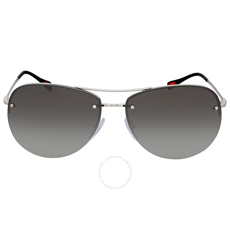 b2aaae104ef16 Prada Linea Rossa Aviator Grey Gradient Sunglasses Item No. 0PS 50RS1BC0A762