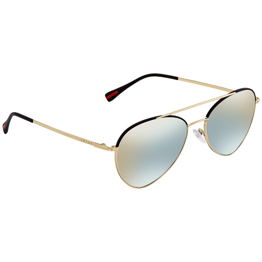 06167b0cb1c1 ... official prada linea rossa azure flash gold oval mens sunglasses pr  ps50ss aav298 57 6dc8f 44da1 ...