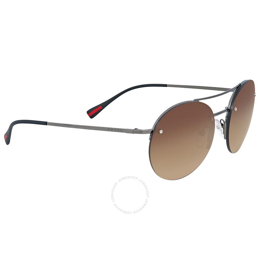 956bce121f57 Prada Linea Rossa Brown Gradient Sunglasses - Prada - Sunglasses ...