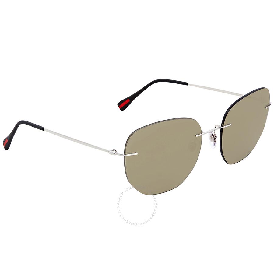 389bad67b8f9 Prada Linea Rossa Round Sunglasses PS 50TS 1BC128 57 - Prada ...