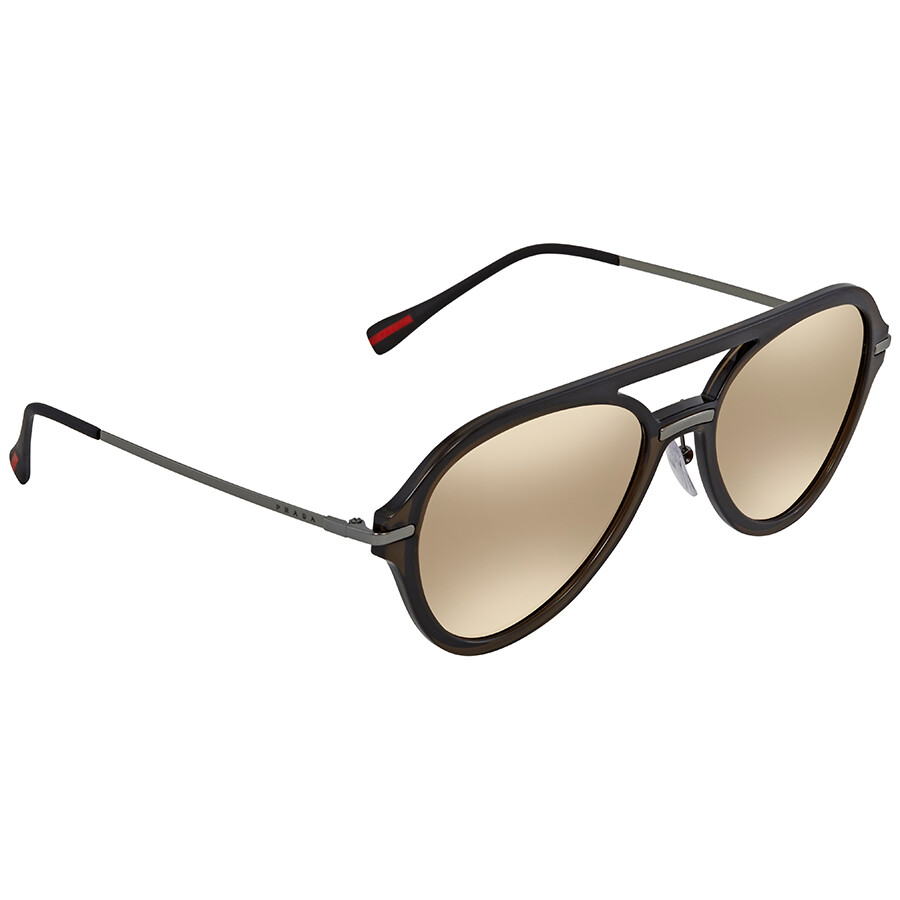 34ae8e89db8 Prada Linea Rossa Aviator Men s Sunglasses PS 04TS 5N9HD0 57 - Prada ...