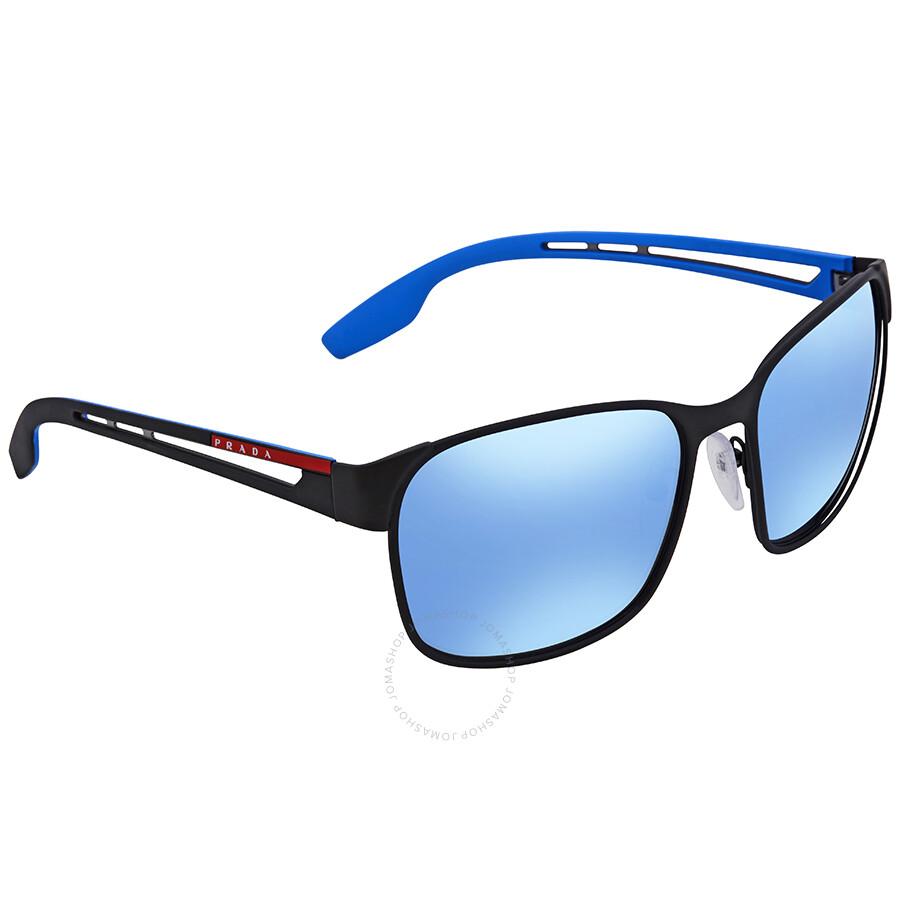68a89504b7 Prada Linea Rossa Dark Grey Mirror Water Square Sunglasses PS 52TS DG02E0  59 ...