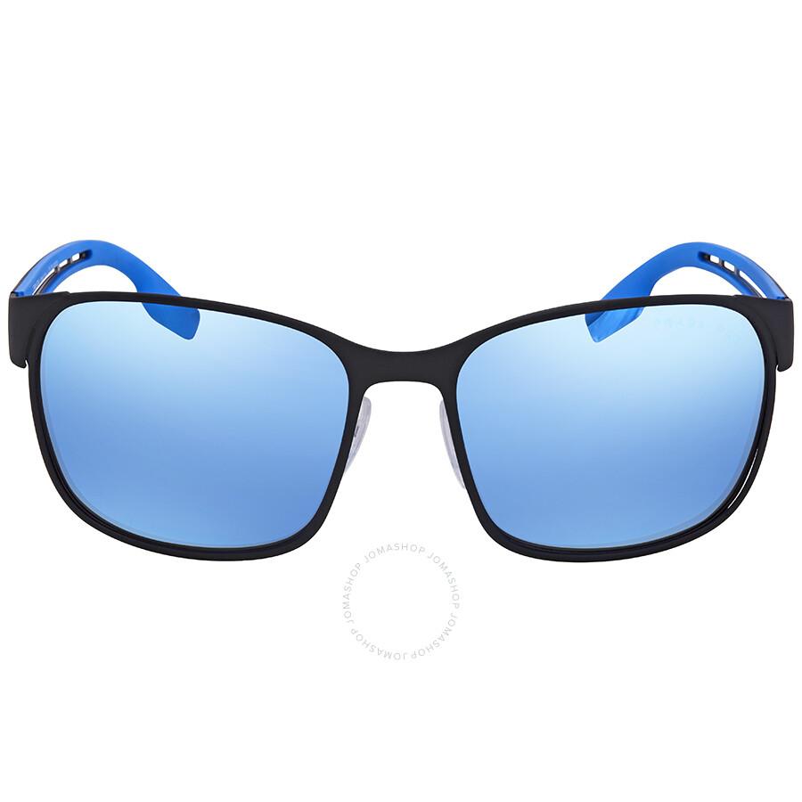 2ee8d4cf7d ... Prada Linea Rossa Dark Grey Mirror Water Square Sunglasses PS 52TS  DG02E0 59 ...
