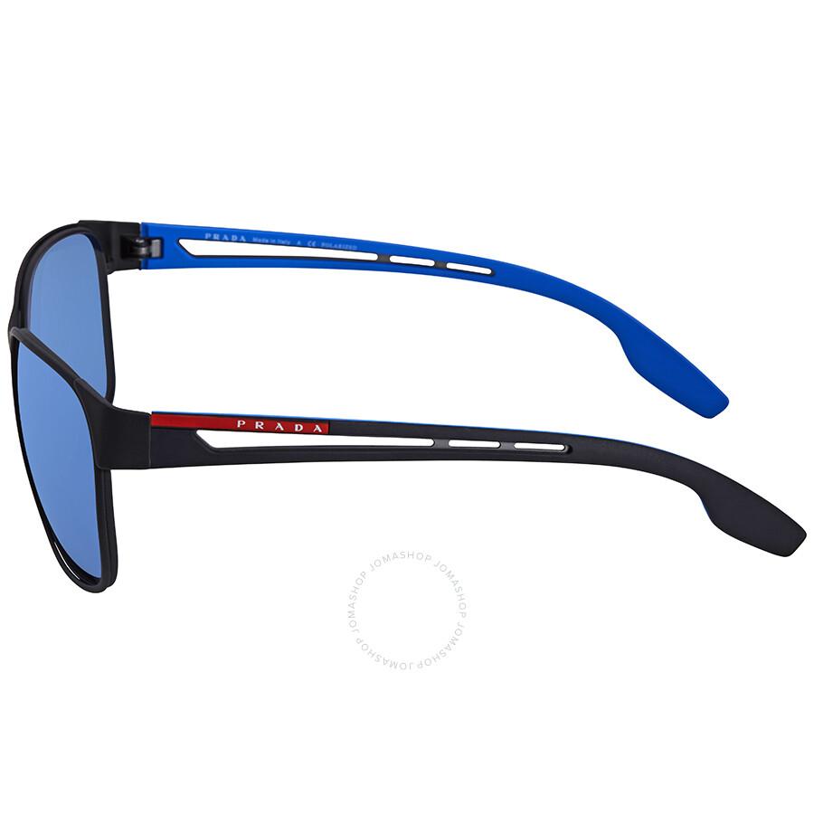 091fc74dd2d9 ... Prada Linea Rossa Dark Grey Mirror Water Square Sunglasses PS 52TS  DG02E0 59