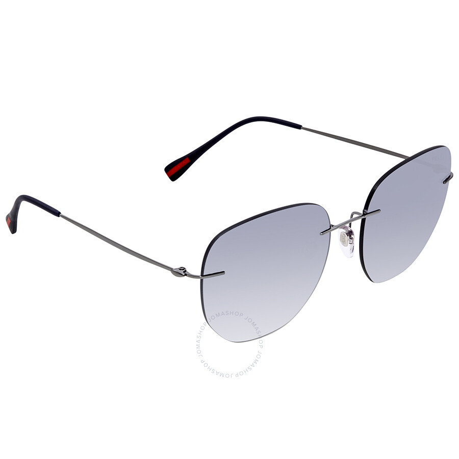 61e12af9b4f5 Prada Linea Rossa Round Sunglasses PS 50TS 5AV5R0 57 - Prada ...