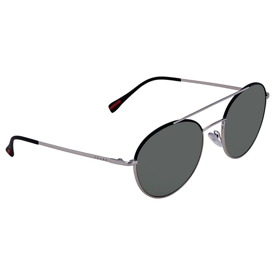 03a8bdbb3d99 Prada Linea Rossa Round Men's Sunglasses PR PS51SS GAQ5X1 54 - Prada ...