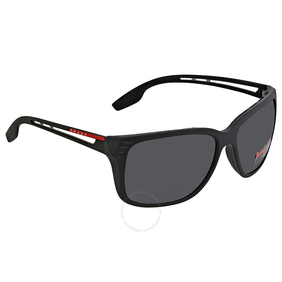 3eea00060782 Prada Linea Rossa Grey Rectangular Men s Sunglasses PS 03TS 1BO5S0 59 ...