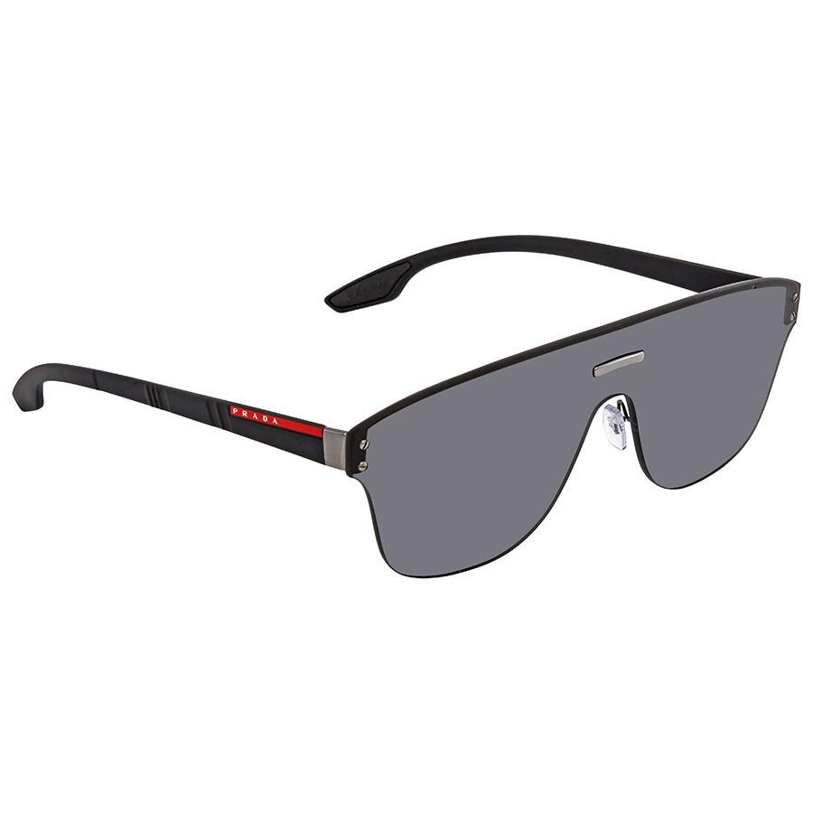 f8f96c6cb4fe7 Prada Linea Rossa Grey Rectangular Men s Sunglasses PR PS57TS 5S05S0 43 ...