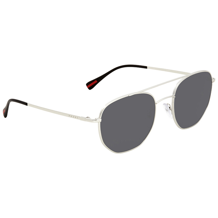 6dd1cb8b4d9 Prada Linea Rossa Grey Round Men s Sunglasses PS56SS 1BC5S0 53 ...