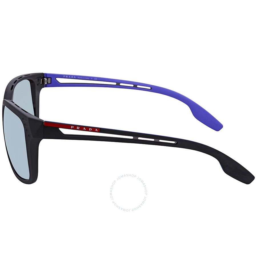 6fbb952a48 ... Prada Linea Rossa Grey Violet Mirror Rectangular Sunglasses PS 03TS  1BO140 59