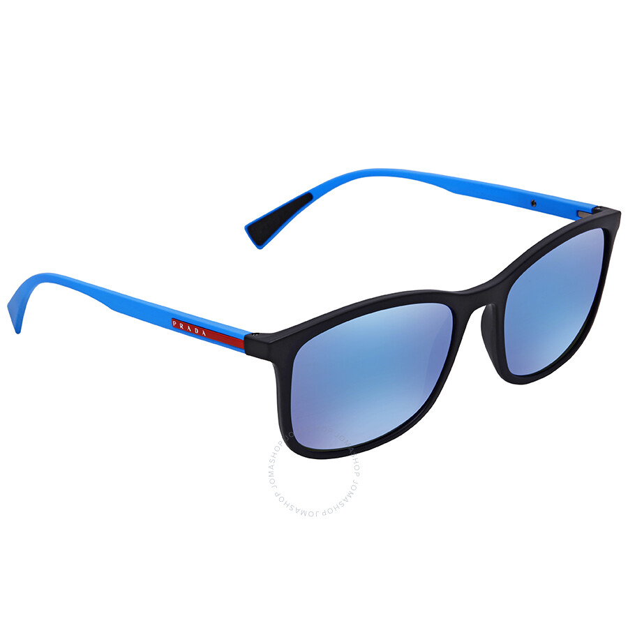 3d61ac38db Prada Linea Rossa Light Green Mirror Blue Sunglasses PS 01TS DG05M2 56 ...