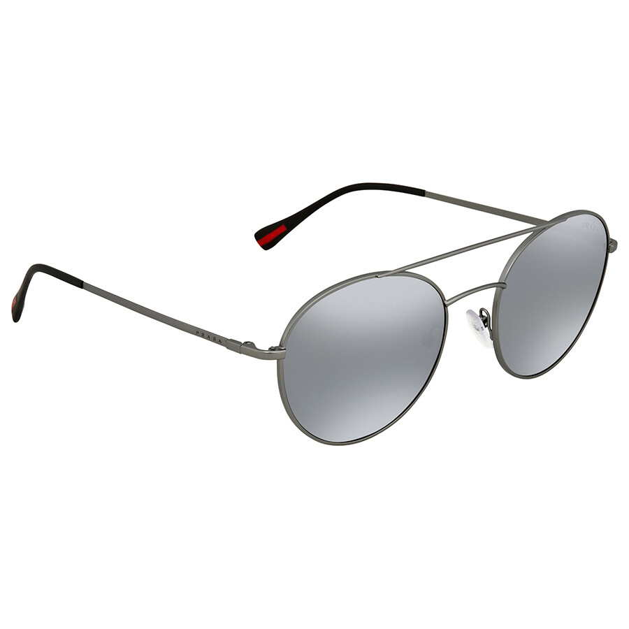 c0bb565fe3 Prada Linea Rossa Light Grey Mirror Men s Sunglasses PS51SS 7CQ5L0 54 ...