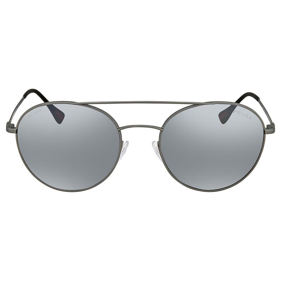 29a2ea550e8b7 ... Prada Linea Rossa Light Grey Mirror Men s Sunglasses PS51SS 7CQ5L0 54  ...