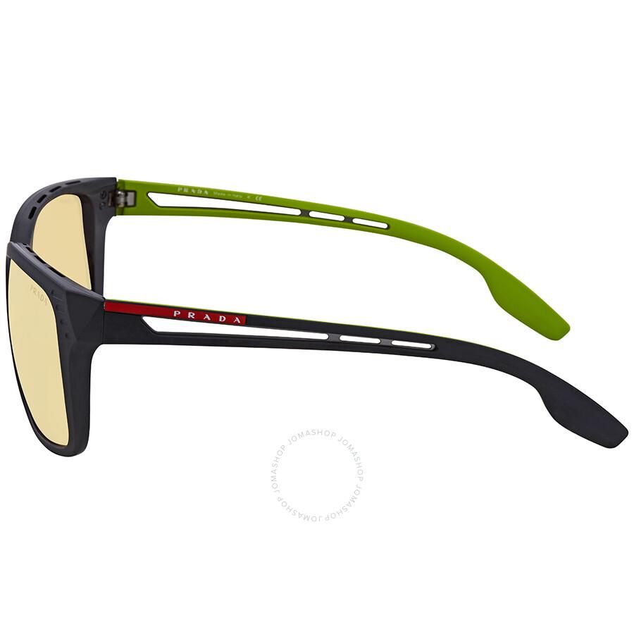 b68fe98e374e Prada Linea Rossa Orange Rectangular Sunglasses PS 03TS 1BO132 59 ...