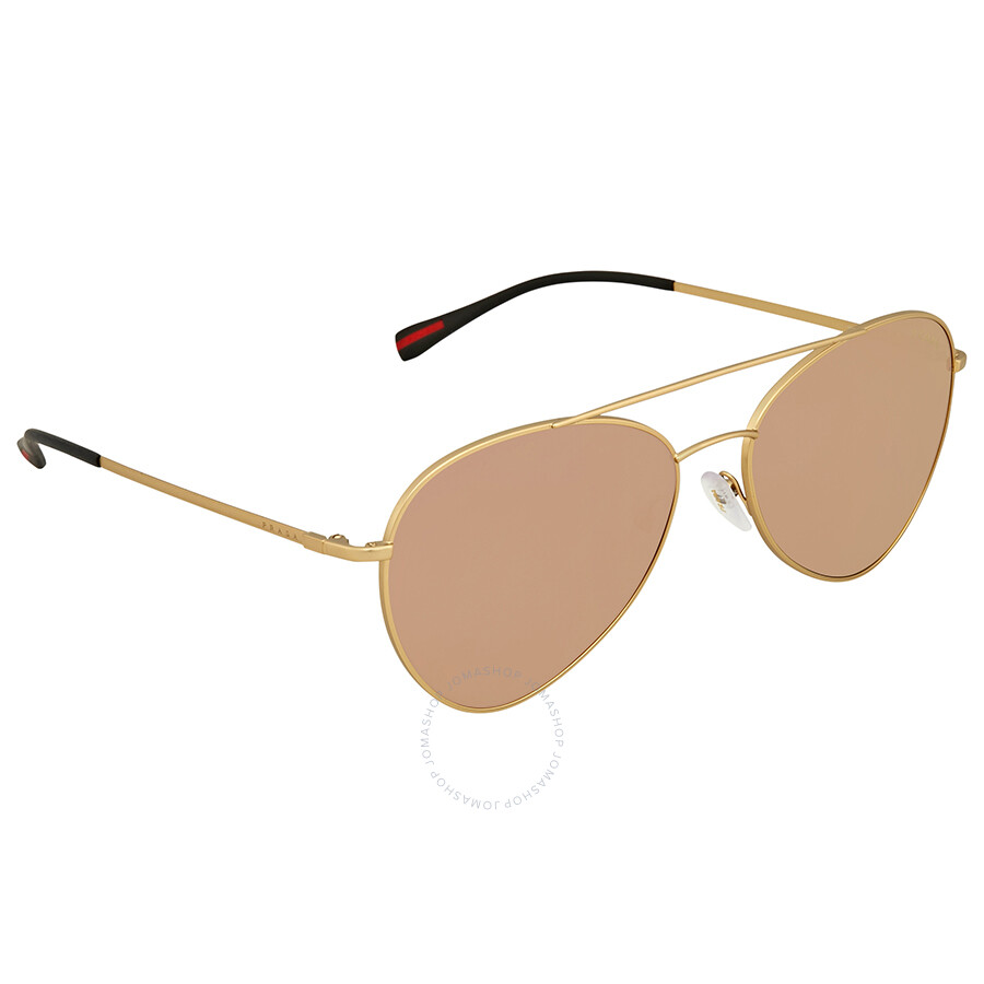 1917b6c9ab Prada Linea Rossa Pink Gradient Mirror Aviator Men s Sunglasses PS50SS  1BK6Q2 60 ...