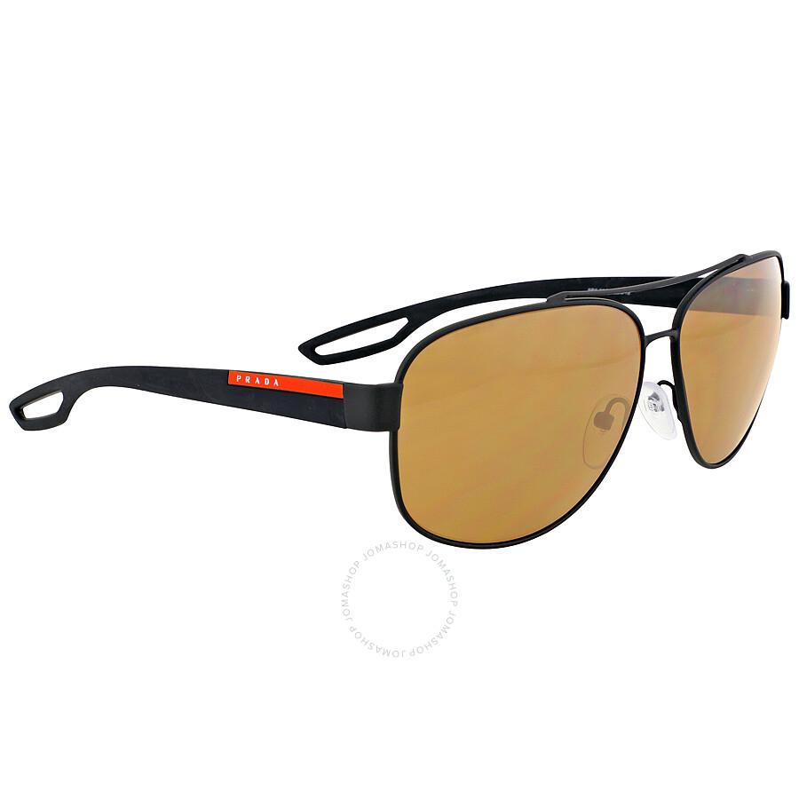 adad950474d2 ... Prada Linea Rossa Polarized Brown Lens Sunglasses PS 58QS-DG05Y1-63 ...