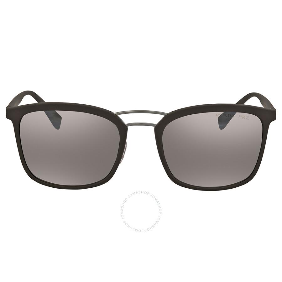 abb9e2eff9 ... Prada Linea Rossa Polarized DK Brown Mirror Silver Square Men s  Sunglasses 0PS 03SSUB05K056 ...
