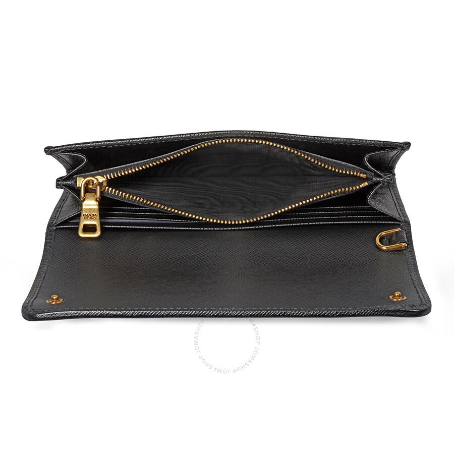 Prada Logo Velvet Clutch - Black - Prada - Handbags - Jomashop f0d178fcc5bb4