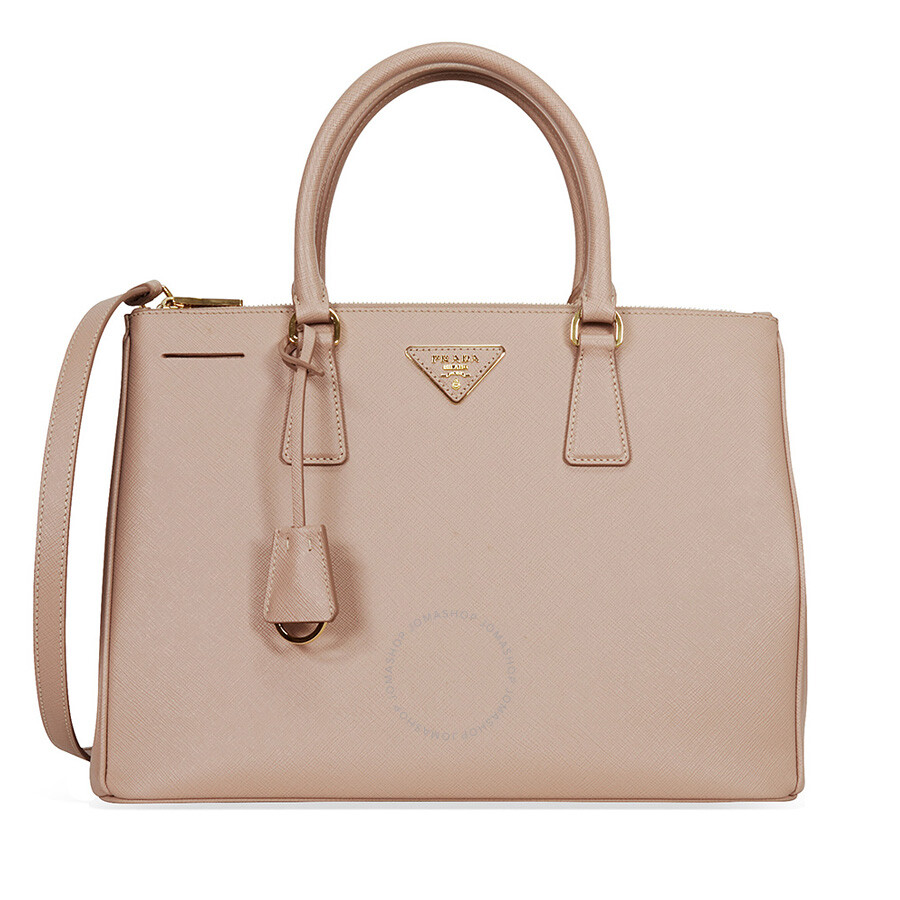 d4498b35a427 Prada Lux Large Double Zip Saffiano Leather Tote - Cammeo Item No.  1BA274-NZV -F0770