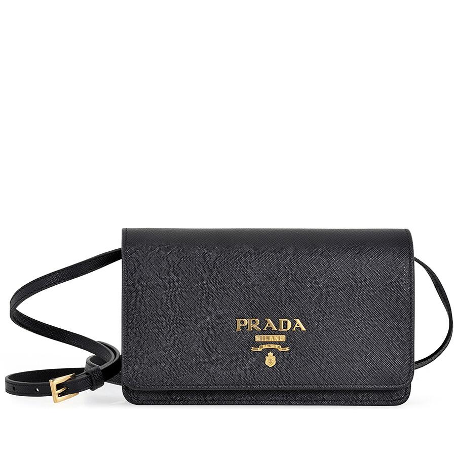 b714af6fcbbc ... cheap prada lux saffiano leather mini shoulder bag black 37f6a 65b7b