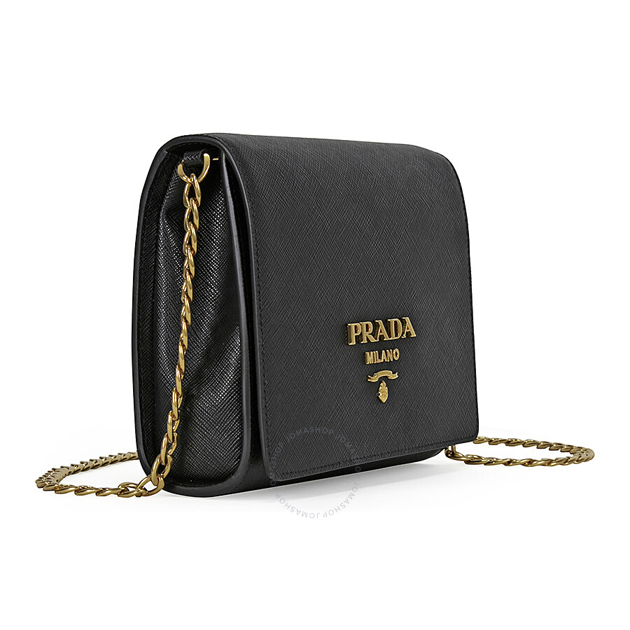 Prada Lux Saffiano Leather Shoulder Bag - Black - Lux - Prada ... b023320e21426