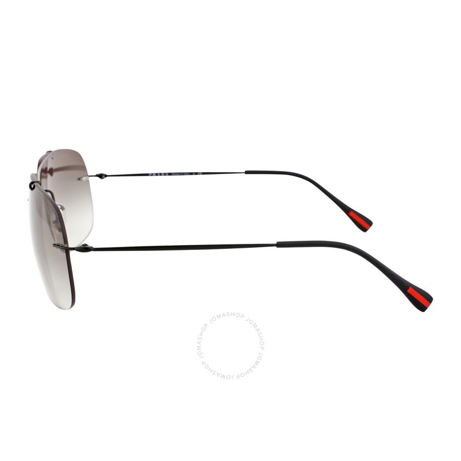 139b571459a70 Prada Matte Black Grey Gradient Sunglasses PS 55PS-1BO0A7-63 - Prada ...