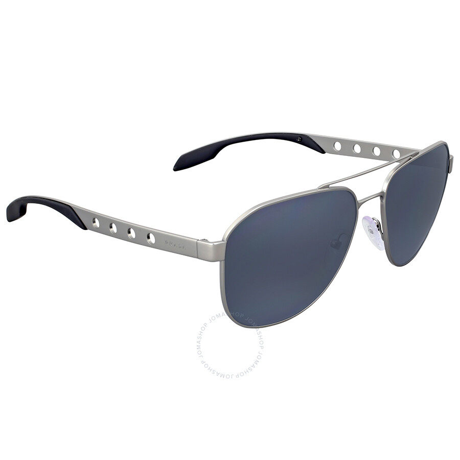 9ccd3fc30b5 Prada Matte Gunmetal Polarized Aviator Sunglasses Prada Matte Gunmetal Polarized  Aviator Sunglasses ...