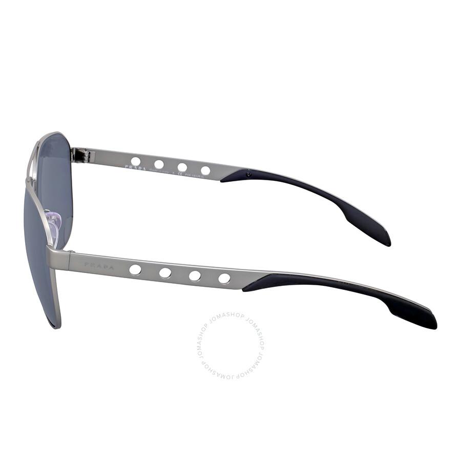 7f1c28ca31d1 Prada Matte Gunmetal Polarized Aviator Sunglasses - Prada ...