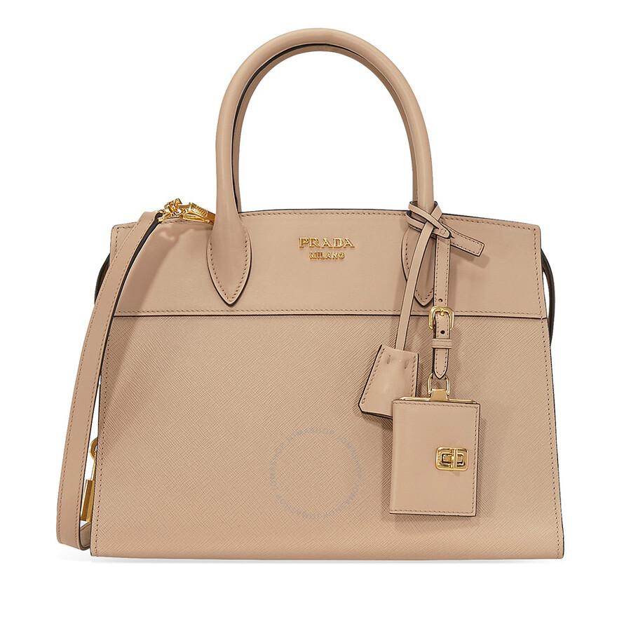 a50094ed62 Prada Medium Esplanade Leather Tote Bag - Cameo - Esplanade - Prada ...