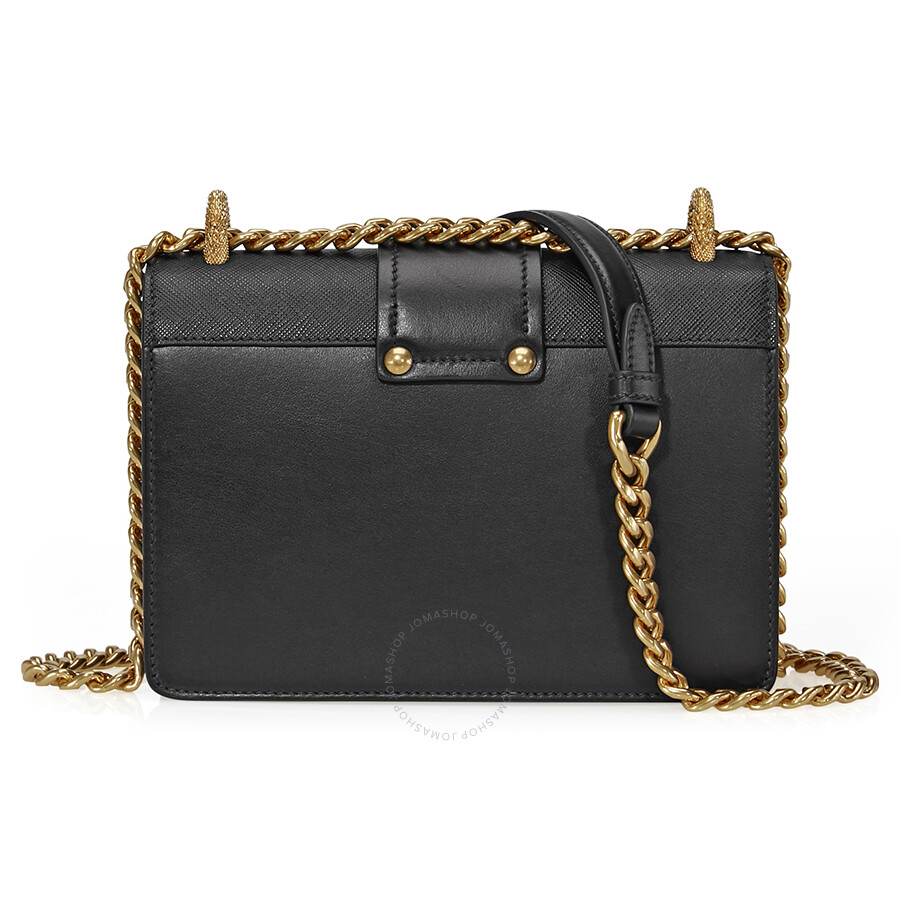 0c93cb91bfe2 Prada Medium Leather Cahier Shoulder Bag - Black - Cahier - Prada ...