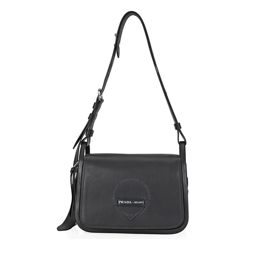 ba3ad73e Prada Medium Leather Shoulder Bag- Black