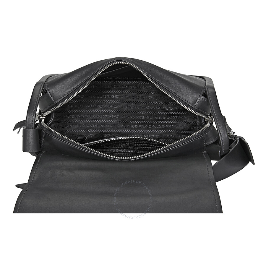 0d48ce3ecbe3 Prada Medium Leather Shoulder Bag- Black - Prada - Handbags - Jomashop
