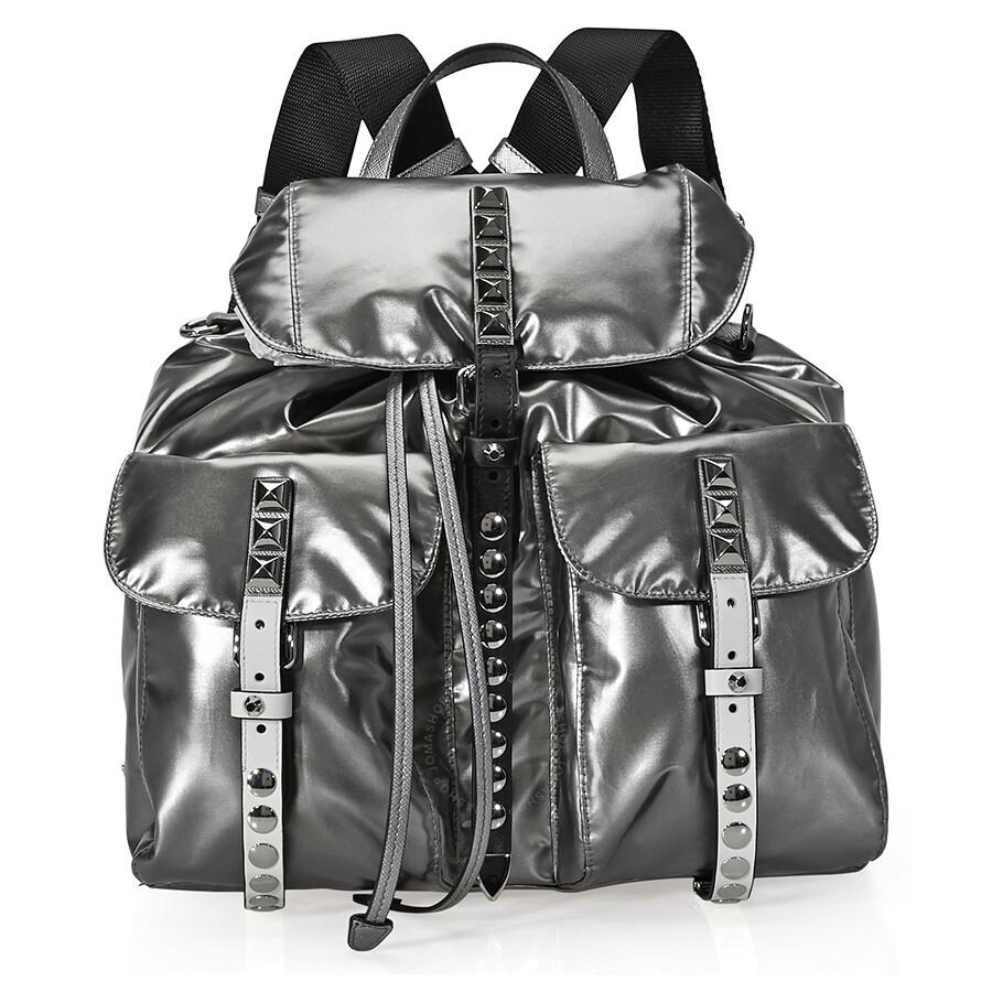 Prada Medium Metallic Fabric Backpack - Prada - Handbags - Jomashop c0e2010e8e