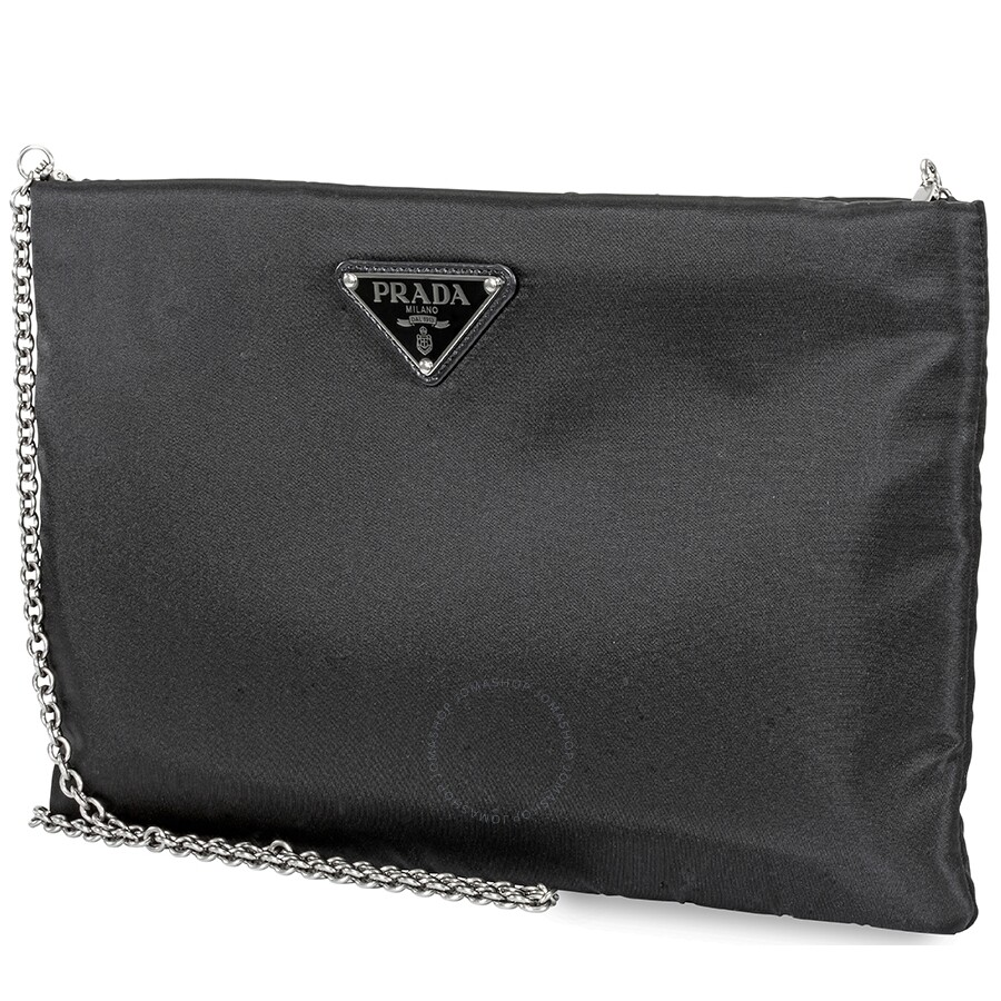16cb2bde Prada Medium Padded Nylon Clutch- Black