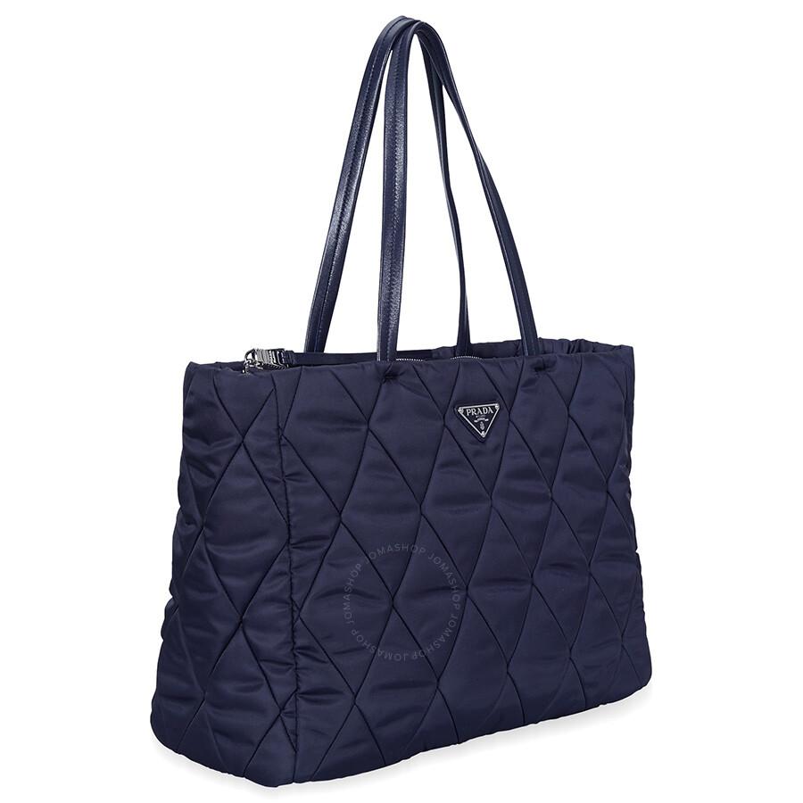 99e816c4eef Prada Medium Quilted Nylon Tote Bag - Navy Blue Item No.  1BG169_2BYV_F0008_V_OOO